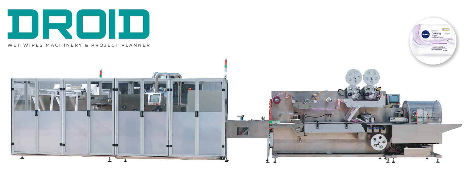 UT FL4 cross fold wet wipes converting and packaging machine - UT-FL4 Cross fold Wet Wipes Machine (5-40Wipes/pack)
