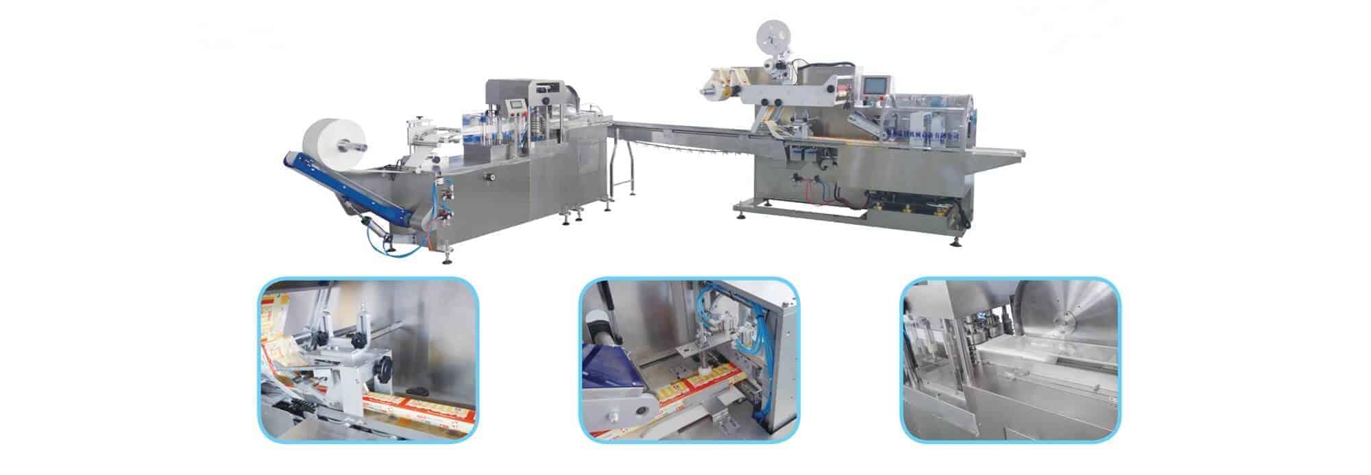 T FL1UT RP - T-FL1+UT-RP Cross fold wet wipes production line(5-30pcs/pack)