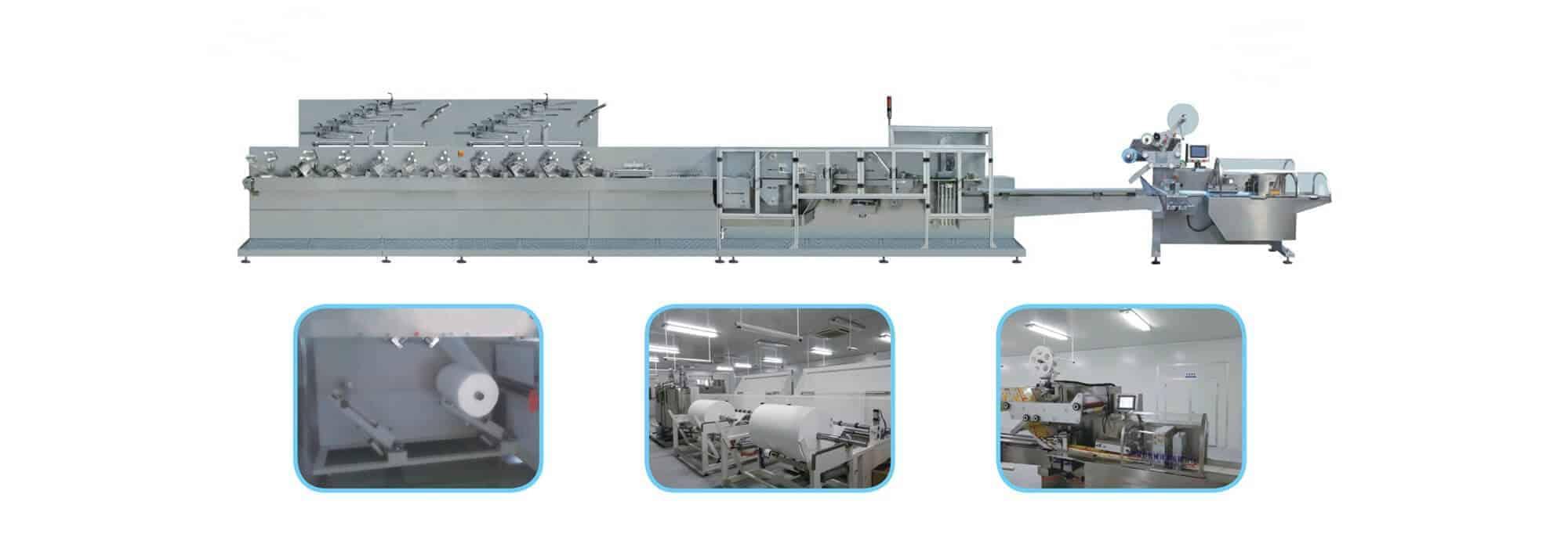 UT BL1012 - UT-BL 10(12 ) Automatic baby wipes production line (30-120pcs/pack)