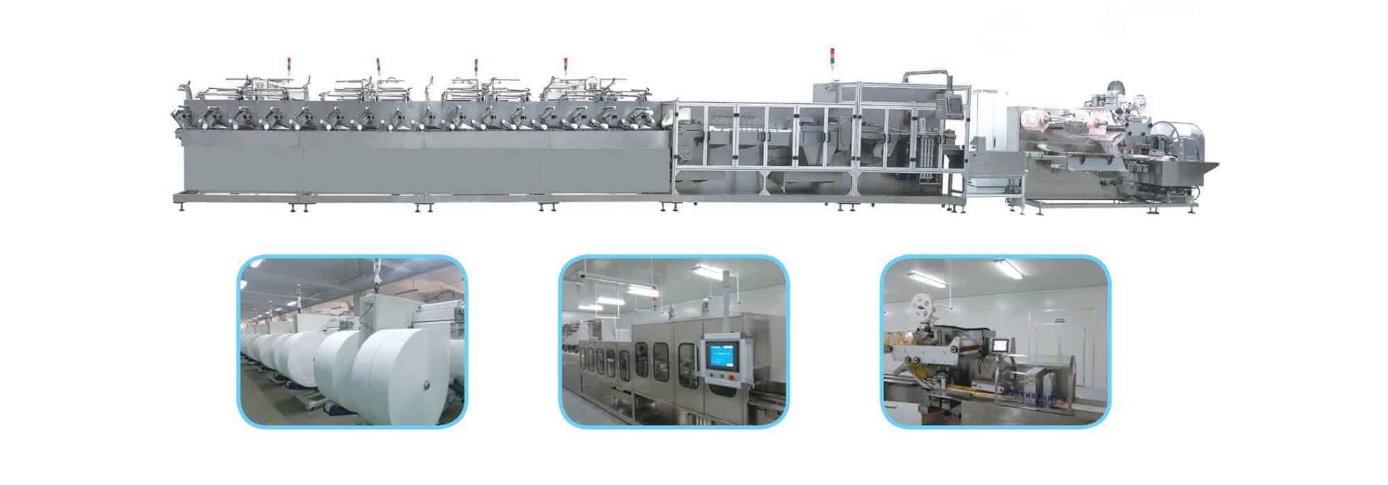 UT BM1620 - UT-BM16(20) Automatic baby wipes production line (30-120pcs/pack