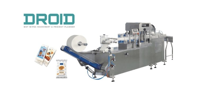 UT FL1 crossfold wet wipes folding machine - DH-250 Single Sachet Wet Wipes Machine