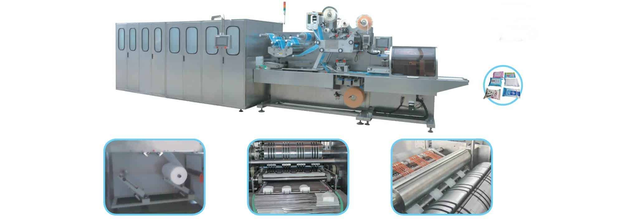 UT FL4 - UT-FL4 Cross fold wet wipes production line (5-30pcs/pack)