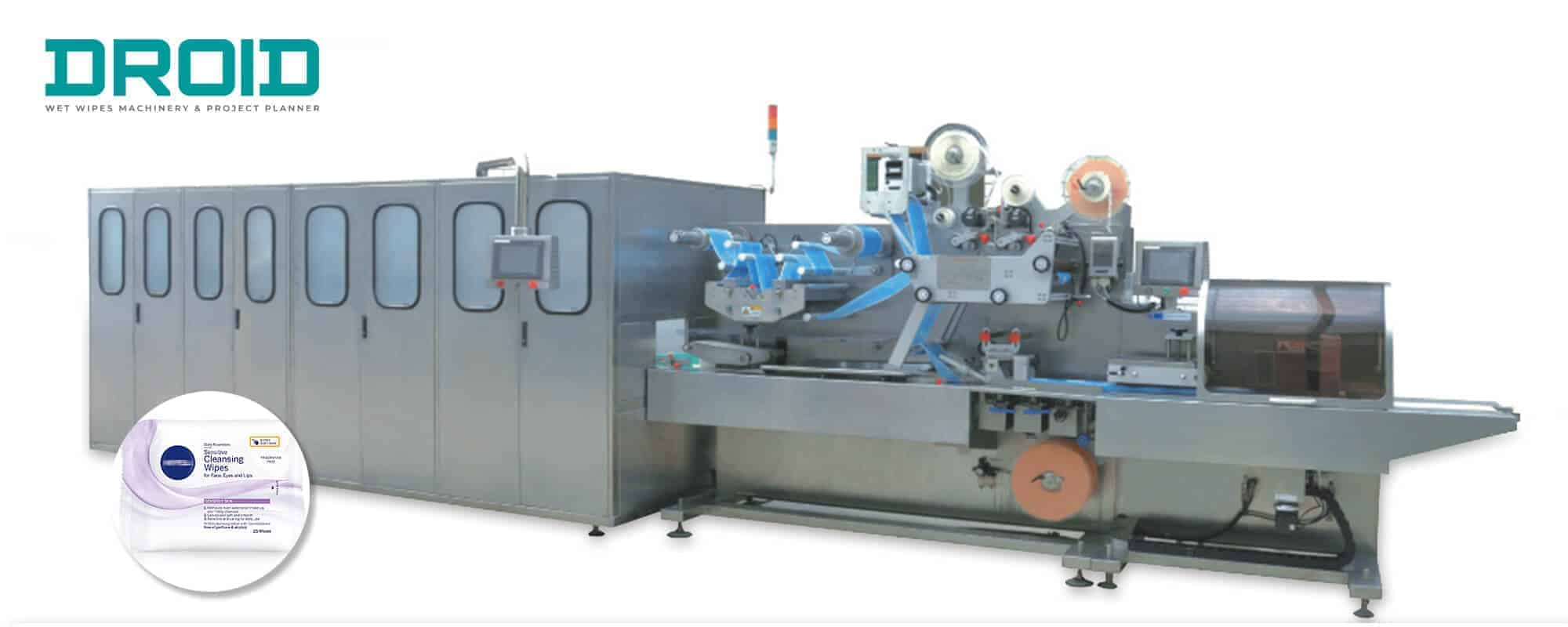 UT FL2 crossfol wet wipes converting and packaging machine - Wet Wipes Machine Products