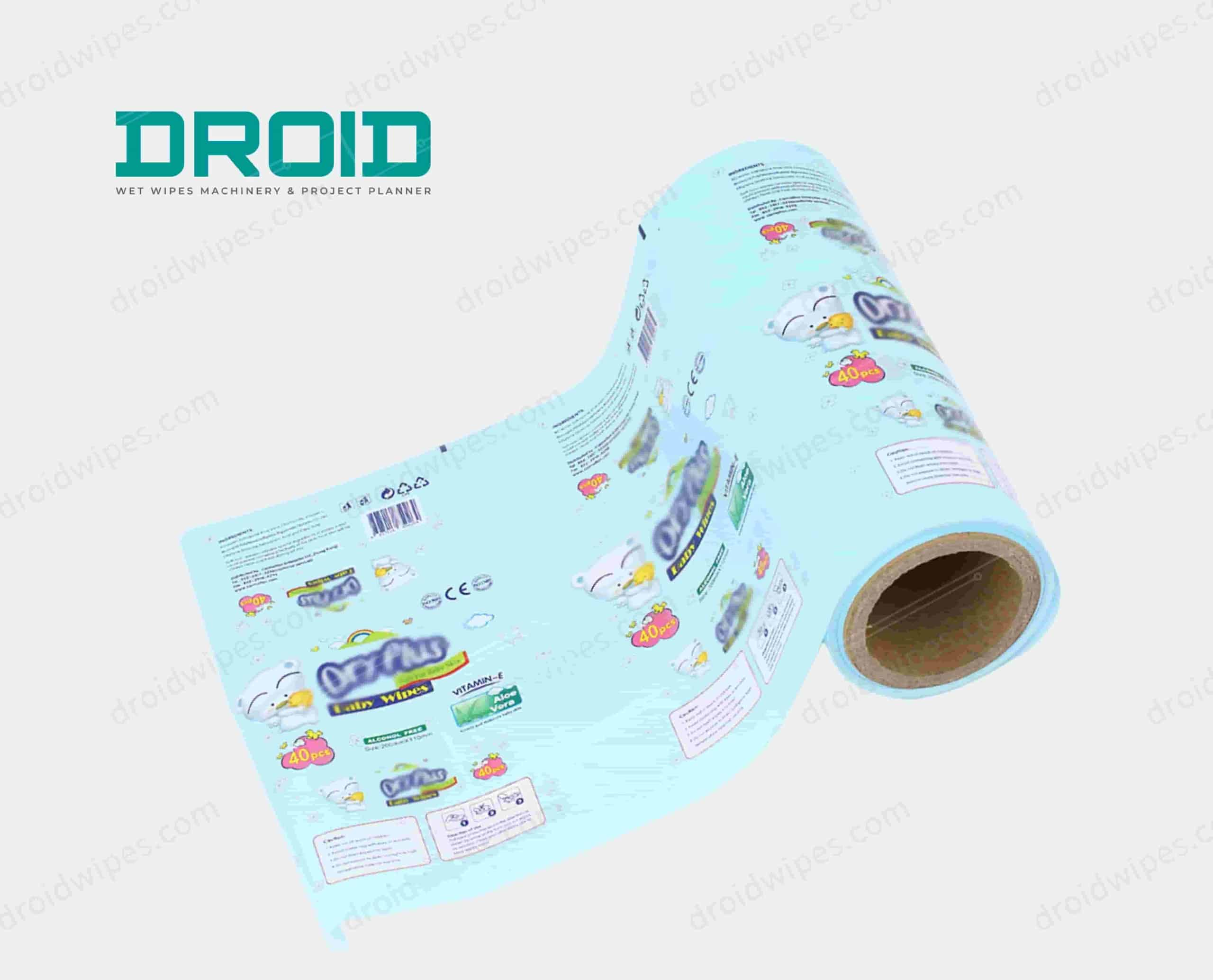Droid packaging film scaled - Plastic Lid for Wet Wipes
