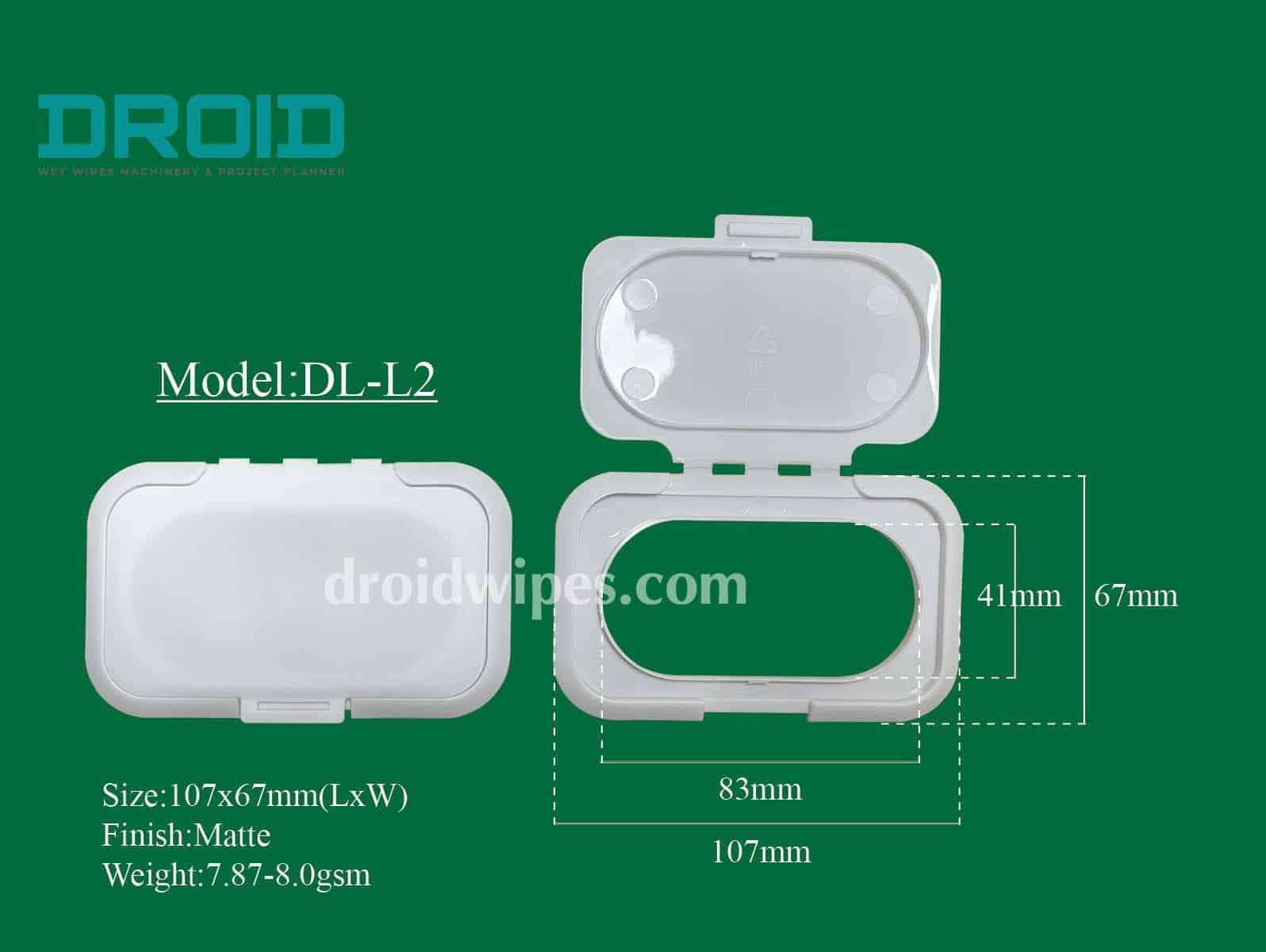 Plastic lid for wet wipes 12 - Plastic Lid for Wet Wipes