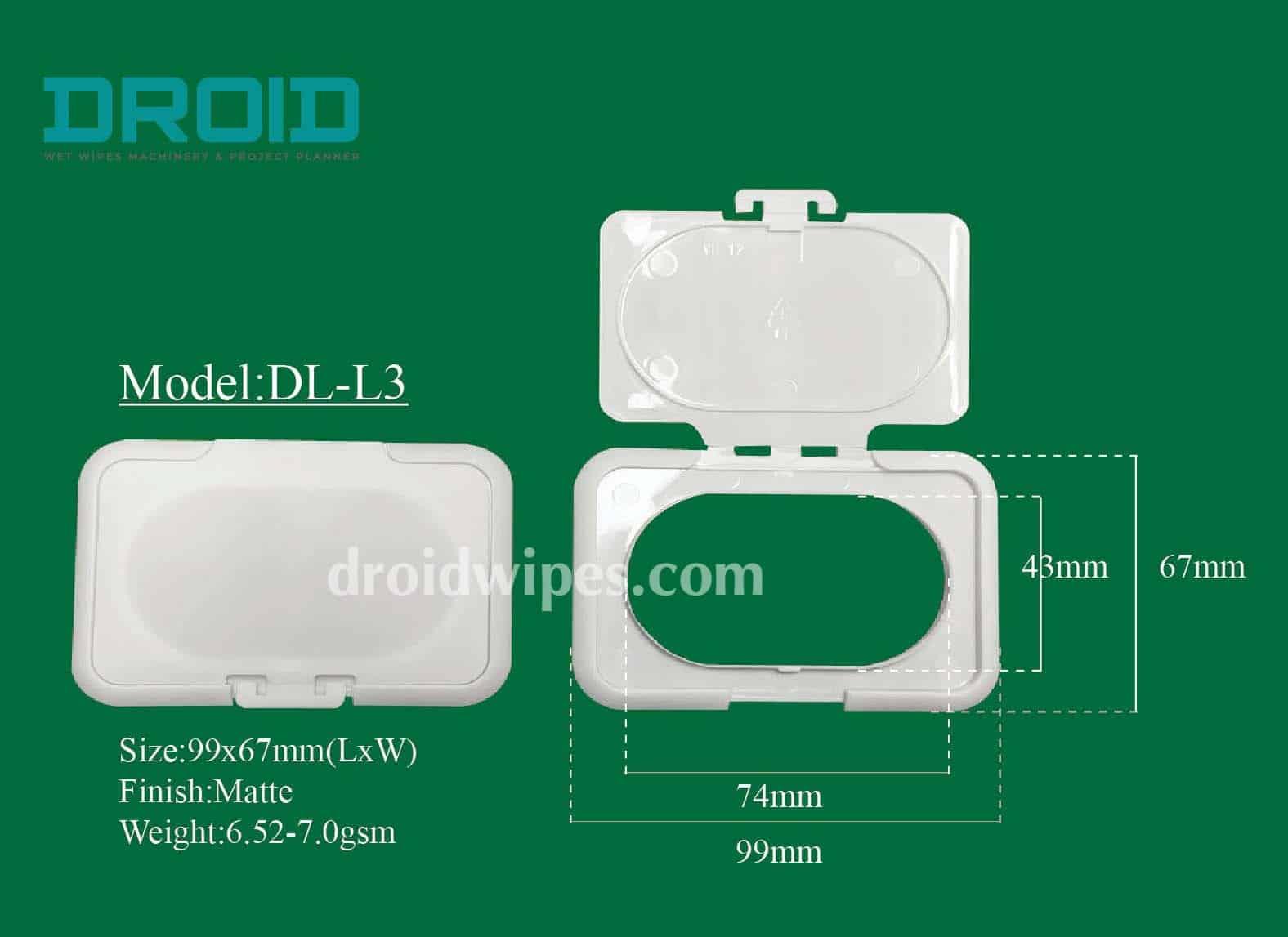 Plastic lid for wet wipes 13 - Plastic Lid for Wet Wipes