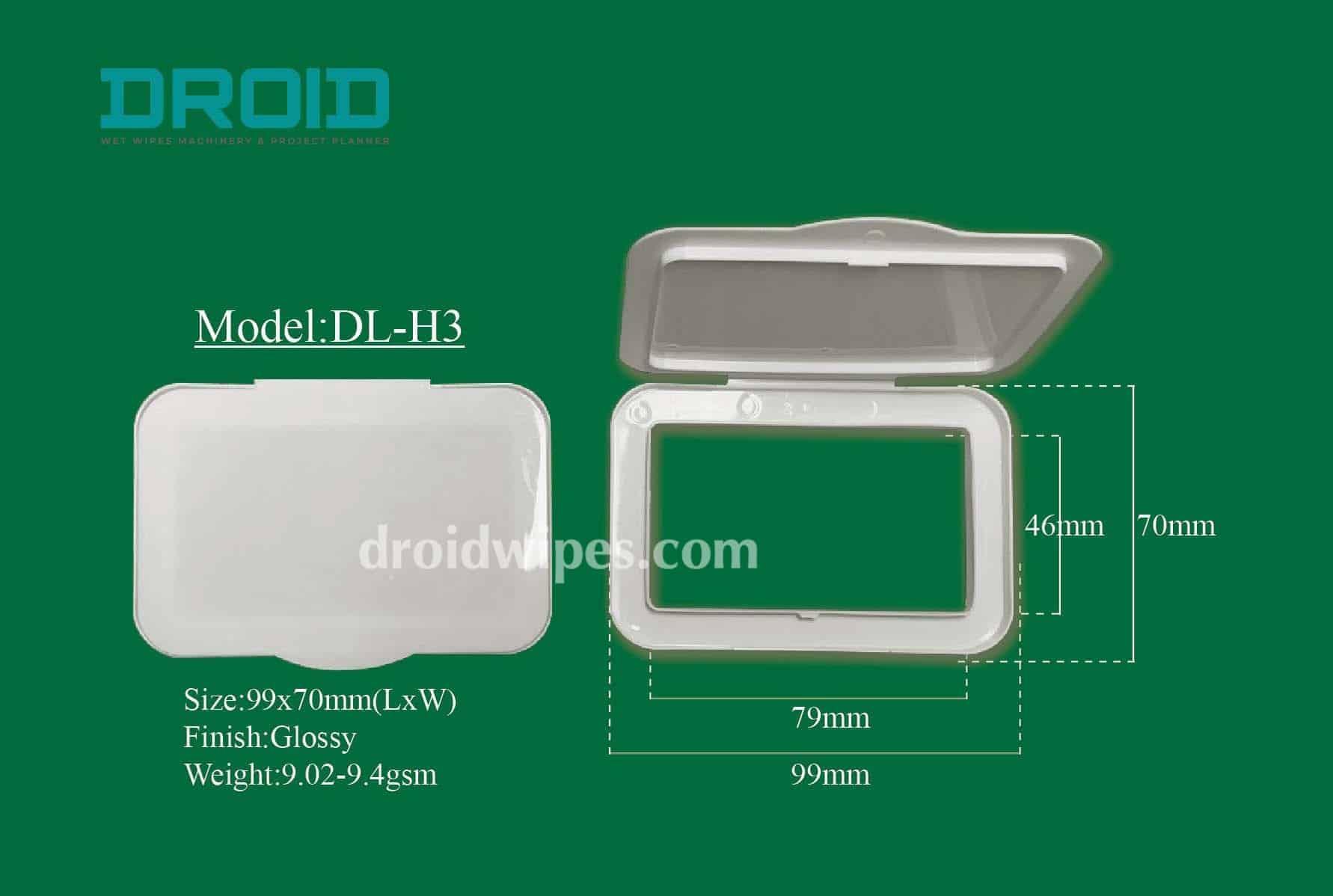 Plastic lid for wet wipes 2 - Plastic Lid for Wet Wipes